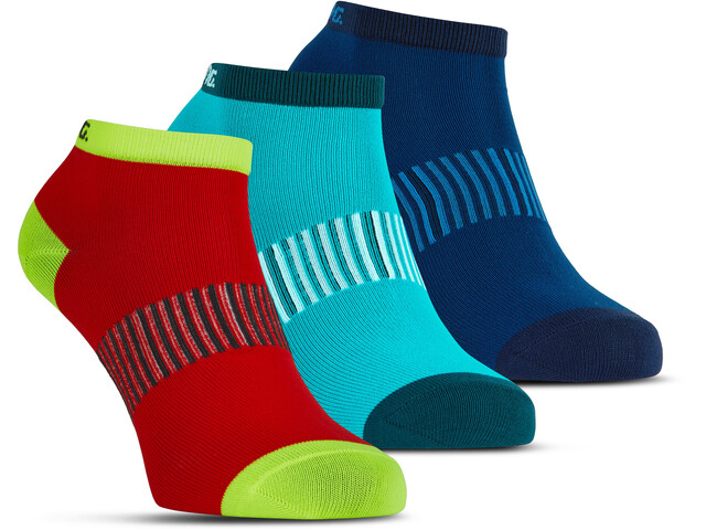 Salming Performance Ankle Socks 3 pack blue/red/lapis